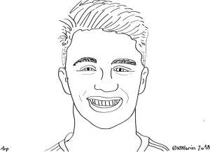 Fiete Arp Hamburger SV, gezeichnet HSVFanin
