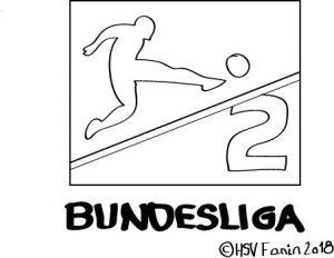 Logo 2 Bundesliga, Hamburger SV ©HSV-Fanin